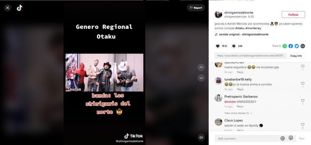 anime los shinigami del norte musica regional mexico monterrey