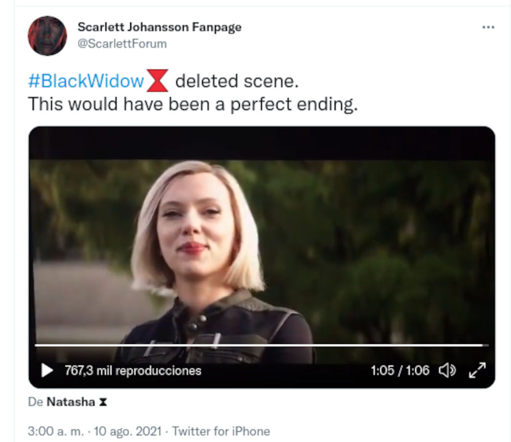 Black Widow tiene un final alternativo