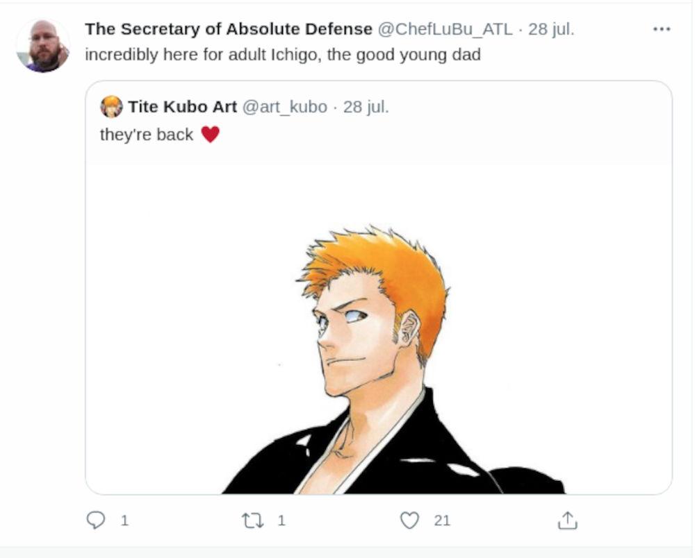 Así reaccionaron los fans a la nueva apariencia de Ichigo en Bleach