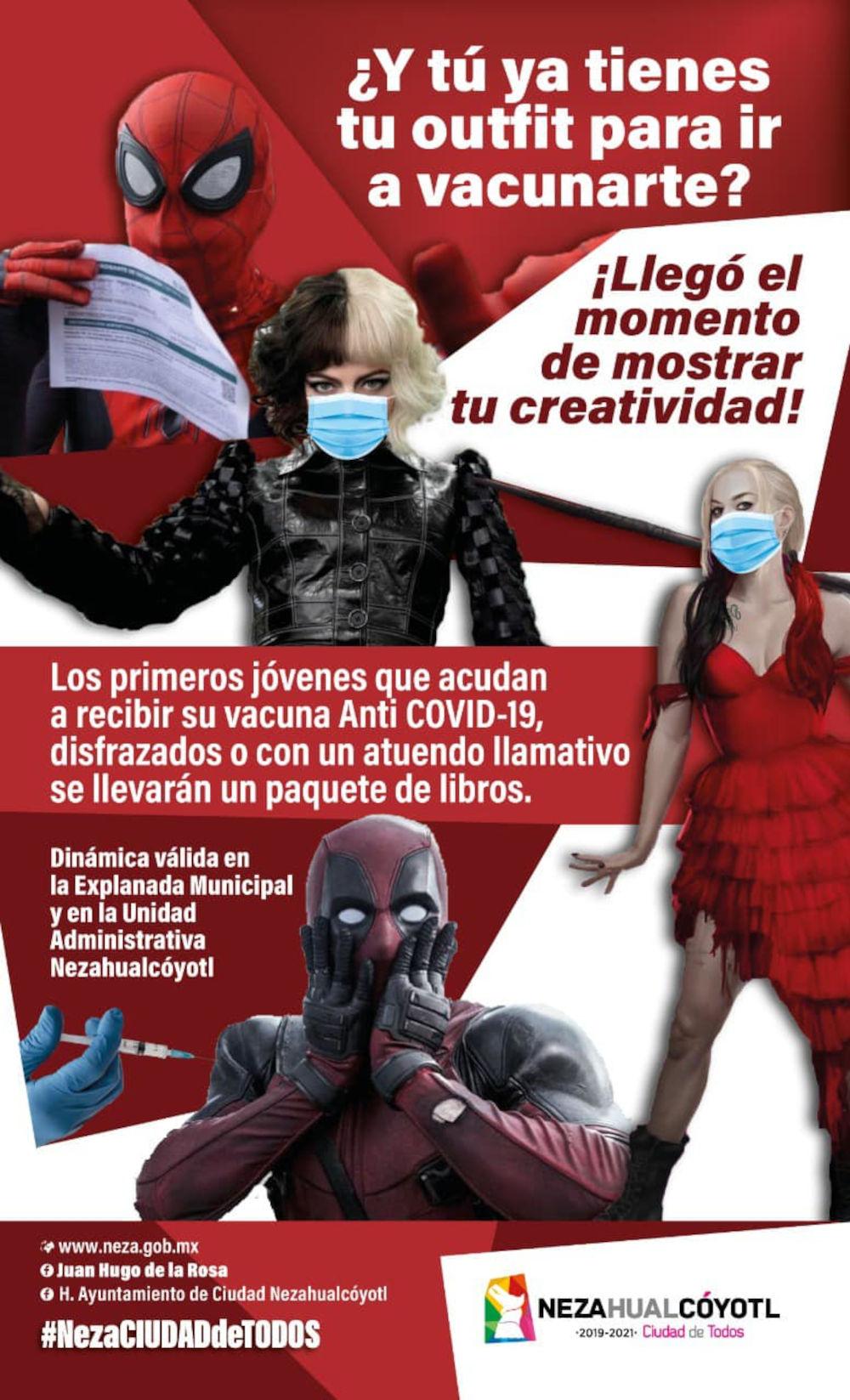 Si te vacunas en Neza y haces cosplay, podrías ganar un regalo