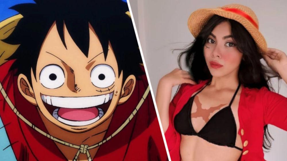 Así podría verse Luffy como mujer en One Piece