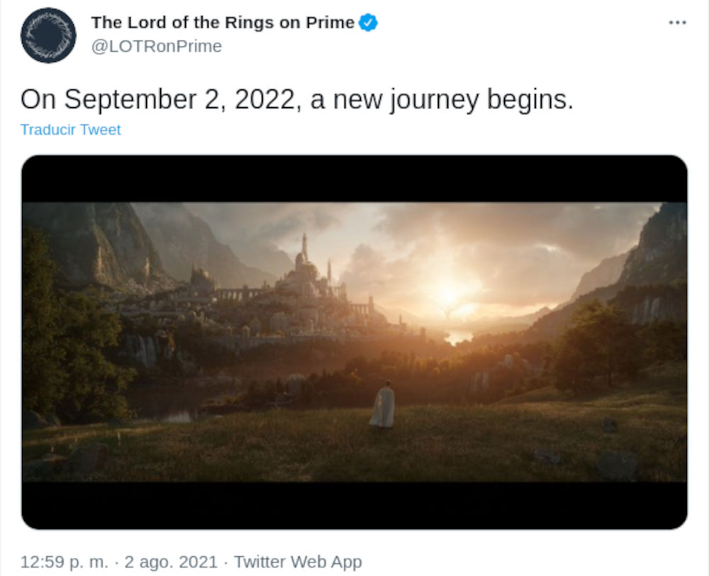 La serie de The Lord of the Rings ya tiene fecha