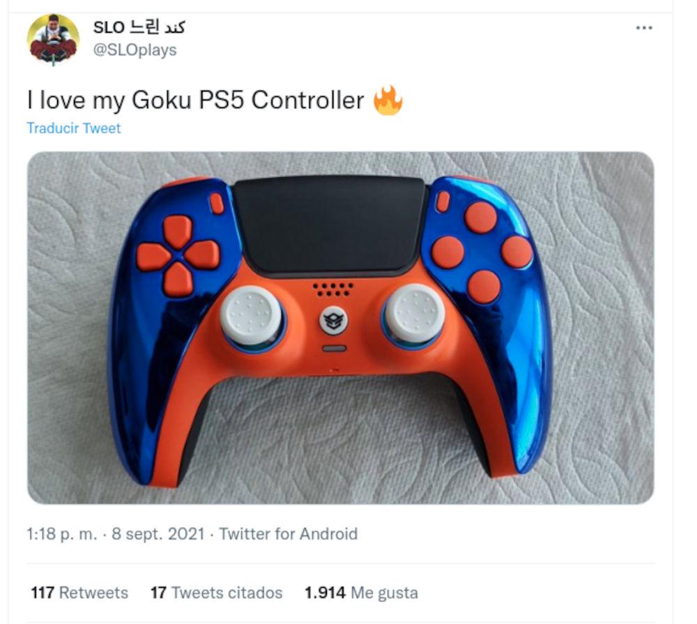 Crean control de PS5 personalizado de Dragon Ball