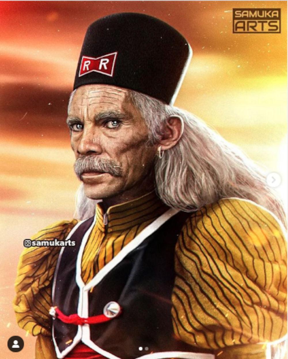 Imaginan a Don Ramón de El Chavo del 8 como el Dr. Maki Gero de Dragon Ball Z