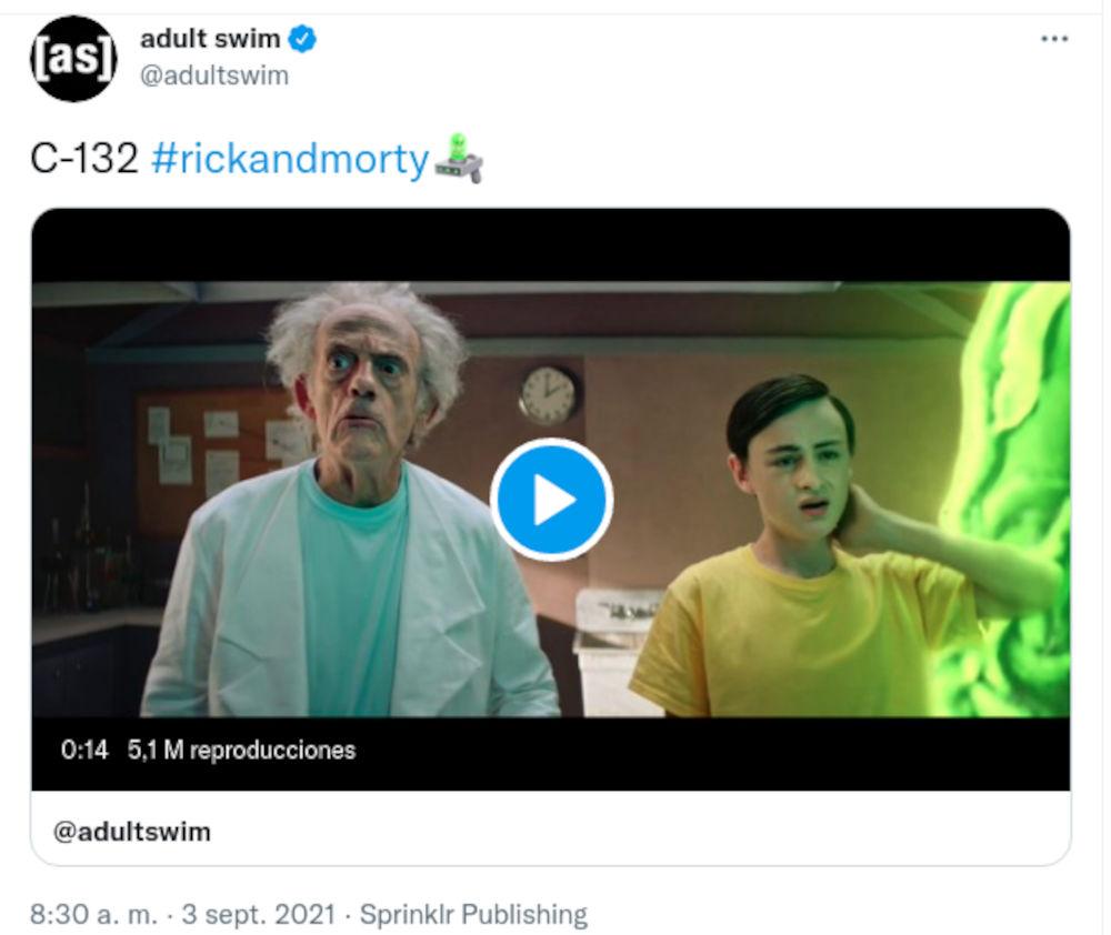 Christopher Lloyd llega a Rick y Morty
