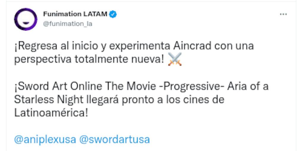 La nueva película de Sword Art Online ya tiene fecha para Occidente