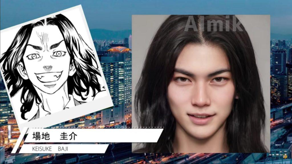 tokyo revengers fanart live-action vida real keisuke baji
