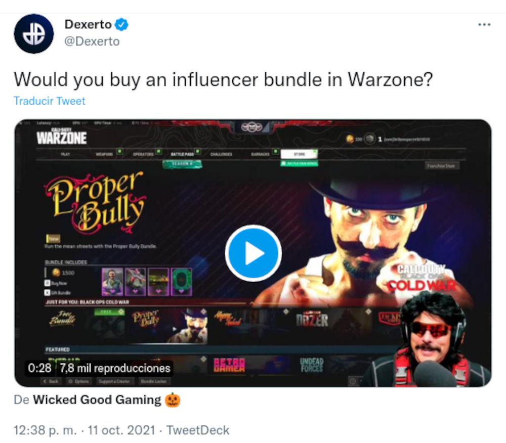 Dr Disrespect quiere que streamers sean personajes de Call of Duty: Warzone