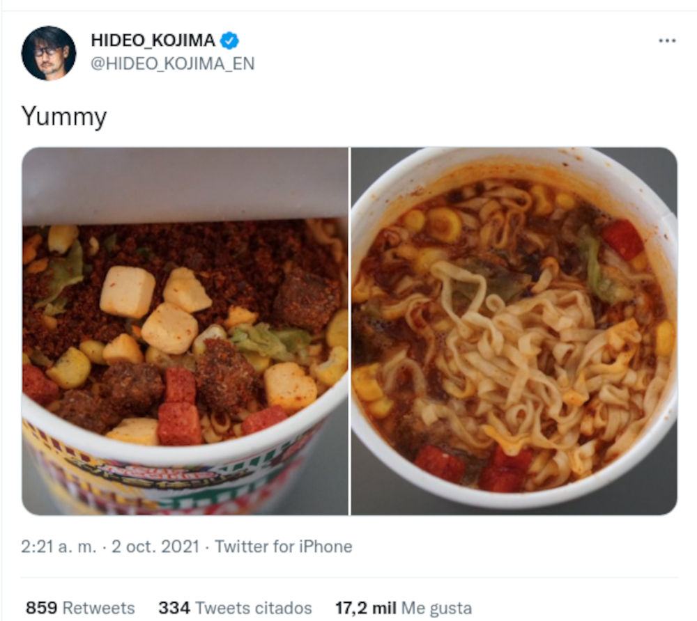 Hideo Kojima, did you make a message about Maruchan soups?