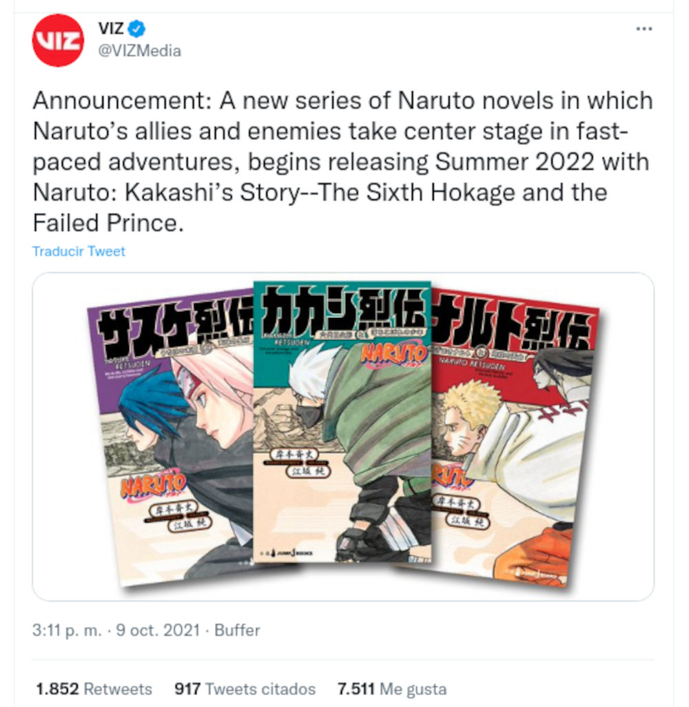Las novelas de Naruto Retsuden llegarán a América